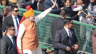 Indien feiert 70. Geburtstag als Republik mit grosser Parade
