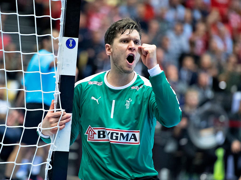 Dänemarks Torhüter Niklas Landin zeigte im Final eine überragende Leistung (Bild: KEYSTONE/EPA RITZAU SCANPIX/HENNING BAGGER)