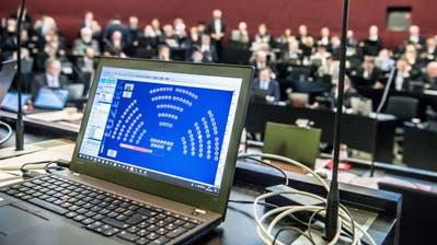 Blick in den Kantonsratssaal in Luzern. (Bild: Nadia Schärli, 28. Januar 2019)