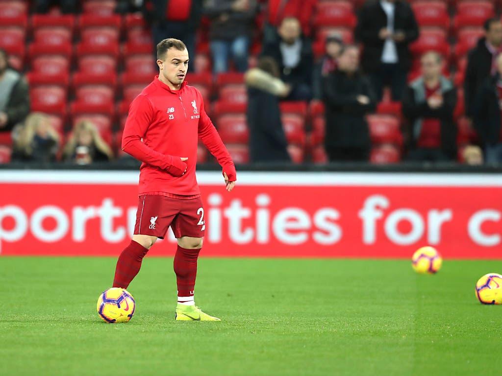 Xherdan Shaqiri wurde bei Liverpool nach 77 Minuten eingewechselt. Doch der Schweizer Internationale konnte dem Spiel auch keine Wende mehr geben (Bild: KEYSTONE/AP/JON SUPER)