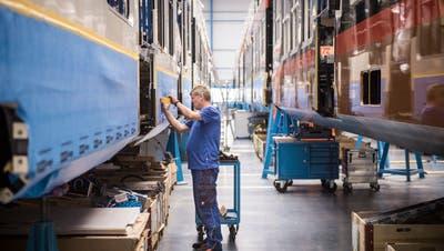 Produktion am Stadler-Hauptsitz in Bussnang. (Bild: Reto Martin (15. Juni 2018))