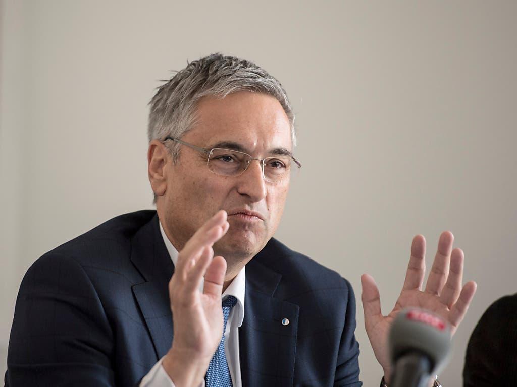 Er sei froh um das Bundesgerichtsurteil, sagte Luzerns Gesundheits- und Sozialdirektor Guido Graf am Donnerstag vor den Medien. (Bild: KEYSTONE/URS FLUEELER)