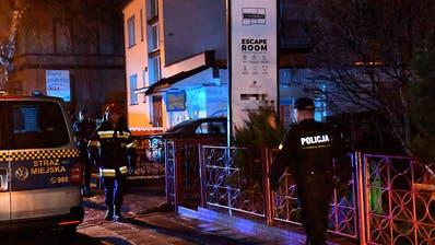 Fünf Frauen sterben bei Brand in polnischem «Escape Room»