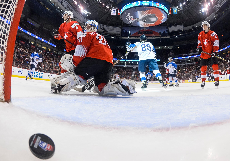 Gleich sechsmal kassierte die Schweiz einen Treffer gegen ein starkes Finnland. (Bild: Joel Marklund/Bildbyran/freshfocus (Vancouver, 4. Januar 2019))