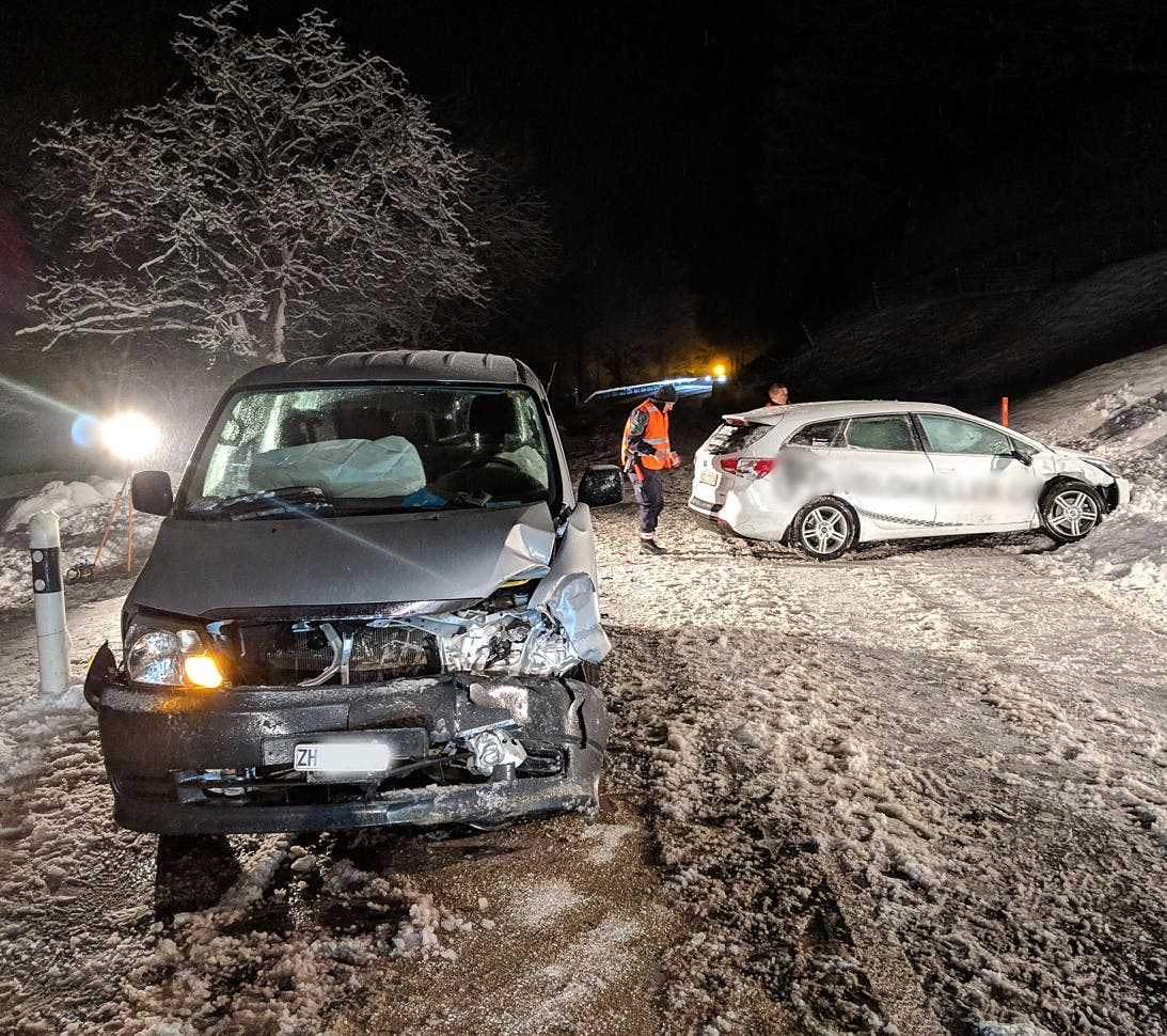 Der zweite Unfall ereignete sich auf der Seestrasse im Bereich der Insel Schwanau. (Bild: Geri Holdener, Bote der Urschweiz)