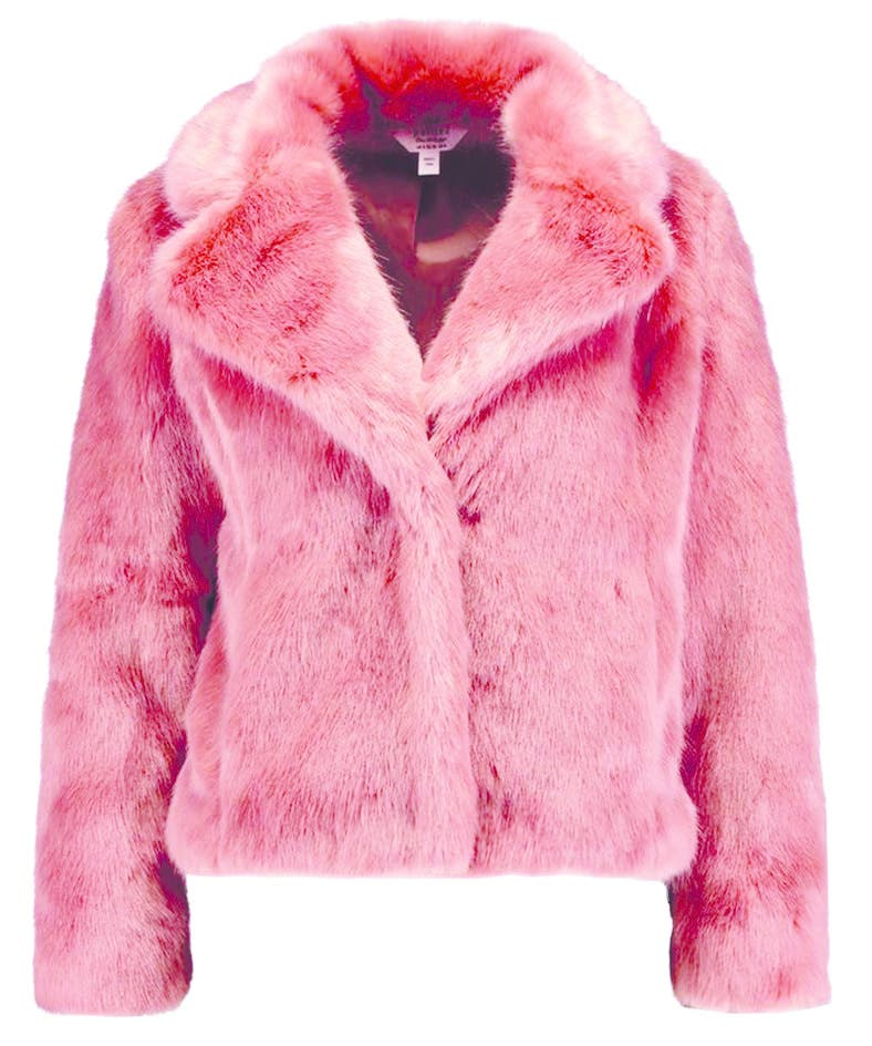 Damit setzt man mitten im Winter ein Statement: Die Jacke aus Kunstfell von Miss Selfridge Petite bei Zalando.