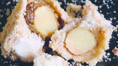 Kohlrabi im Salz gebacken
