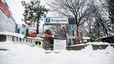 Parkhaus Burggraben bleibt wegen Sanierunsarbeiten bis November zu