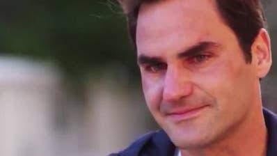 Roger Federer lässt seinen Emotionen freien Lauf. (Screenshot Twitter)