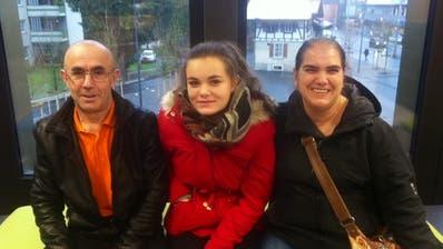 Rogerio, Corina und Julia Borges freuen sich auf den Neustart in Kriens. Bild: Sandra Monika Ziegler (7. Januar 2018)