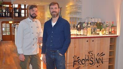 Küchenchef Sebastian Riedel und Arne Koch, Chef de Service, leiten neu als Co-Geschäftsführer das Restaurant Frohsinn. (Bild: Mario Testa)