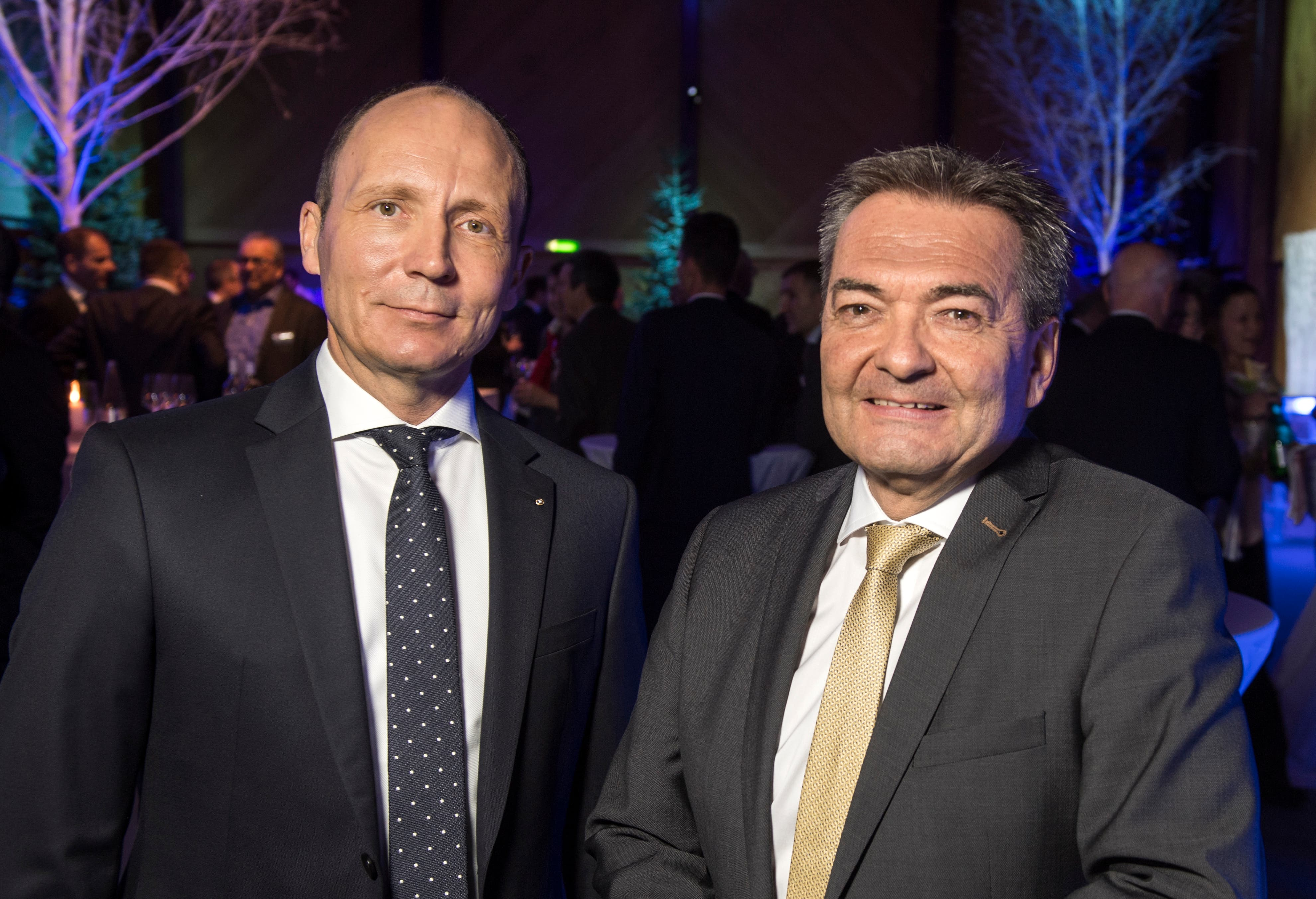 CEO Thomas Koller und VR-Präsident René Bock.