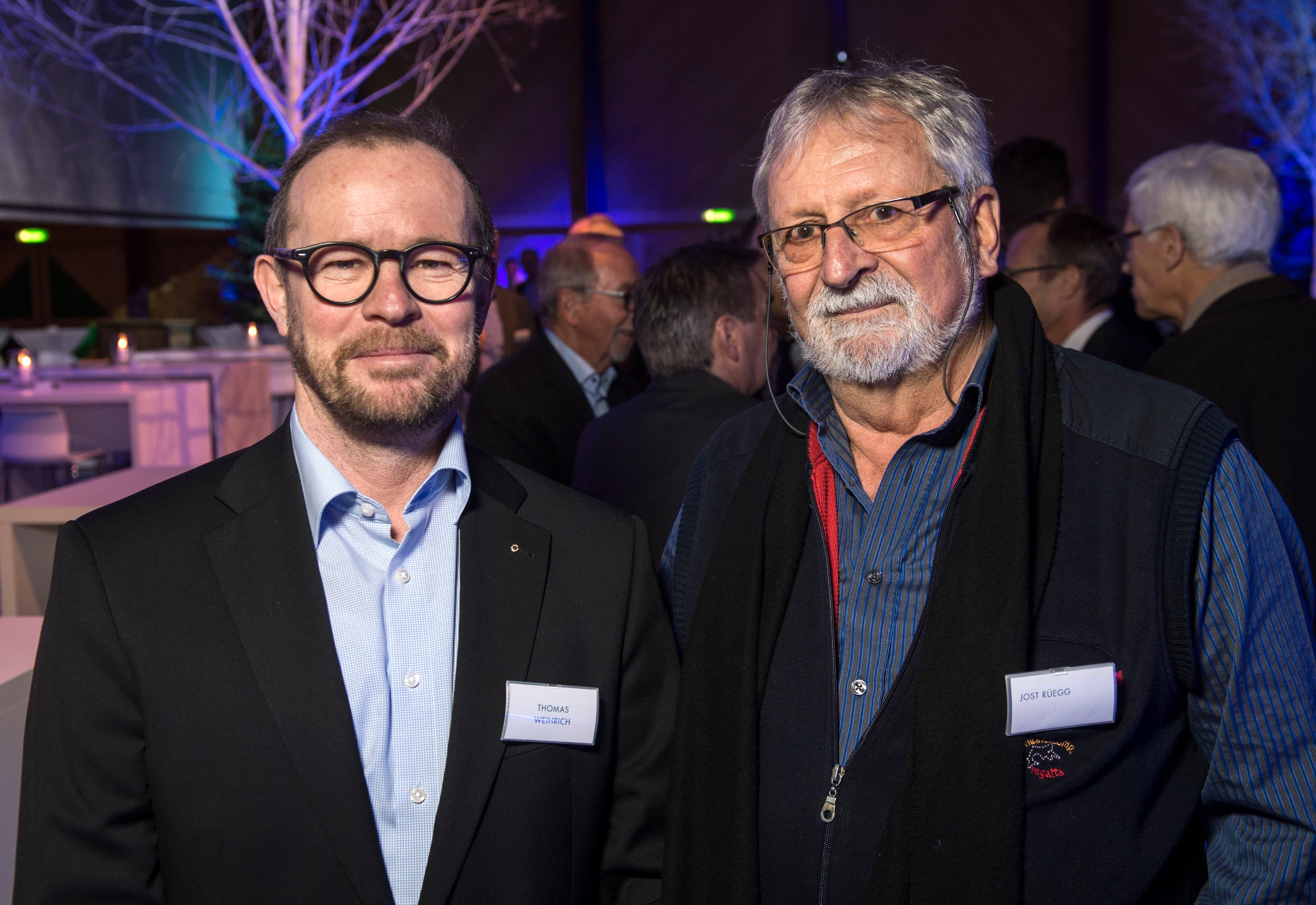 Unternehmer Thomas Weihrich und GP-Kantonsrat Jost Rüegg.