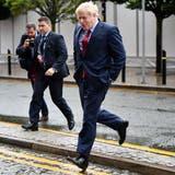 Der britische Premier Boris Johnson auf dem Weg zum Parteitag in Manchester. (Bild: Getty, 1. Oktober 2019)