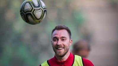 Stürmerstar Christian Eriksen ist auf dem Platz der wichtigste Spieler der Dänen. (Bild: Benjamin Manser)