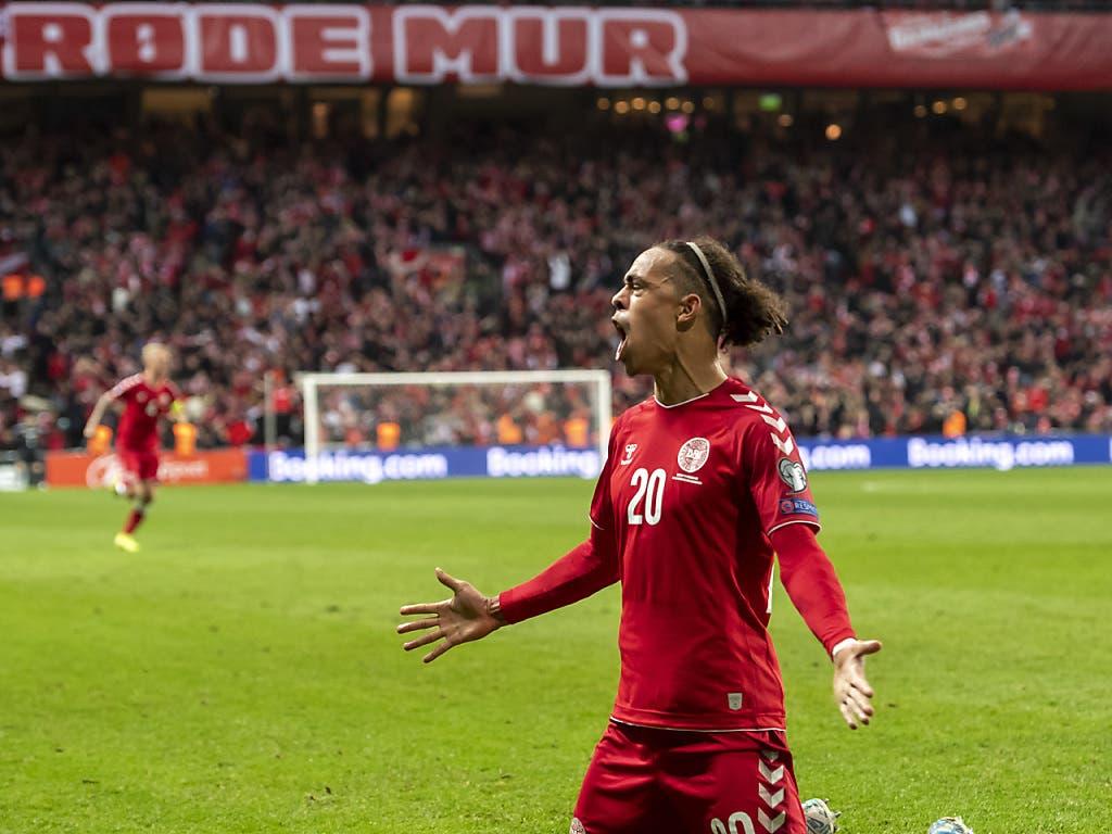 Yussuf Poulsen erzielte den einzigen Treffer in der 85. Minute (Bild: KEYSTONE/GEORGIOS KEFALAS)