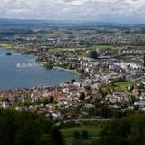 Blick vom Blasenberg auf die Stadt Zug. (Bild: Stefan Kaiser, 10. Mai 2019)
