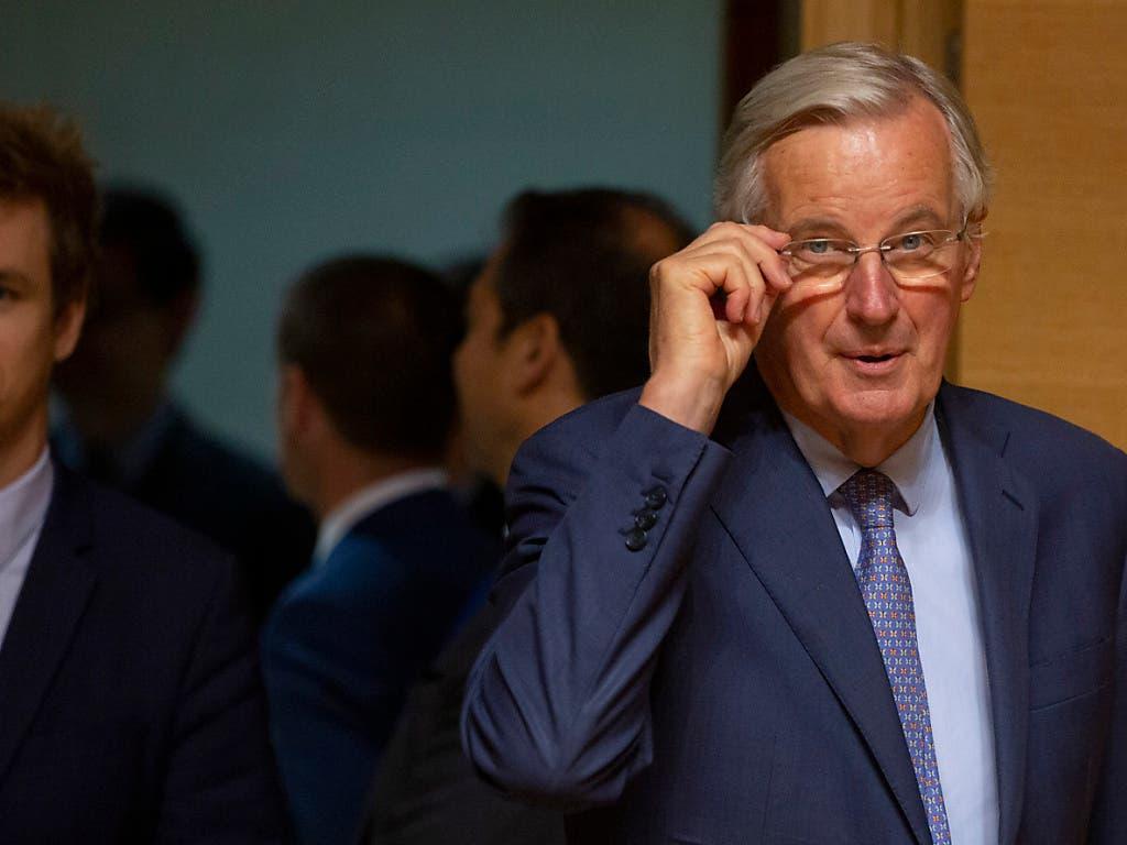EU-Chefunterhändler Michel Barnier hat am Dienstag in Luxemburg gesagt, er halte zurzeit sowohl einen Durchbruch wie auch ein Scheitern der Brexit-Gespräche noch möglich. (Bild: KEYSTONE/AP/VIRGINIA MAYO)