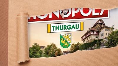 Das noch nicht ganz veröffentlichte Cover des Monopoly Thurgau. (Bild: PD)