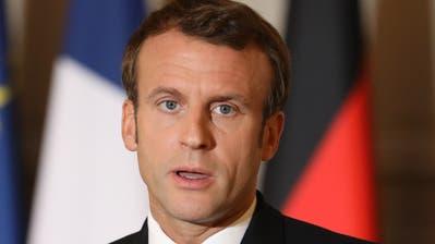 Der französische Präsident Emmanuel Macron. (Bild: Ludovic Marin/EPA, Paris, 13. Oktober 2019)