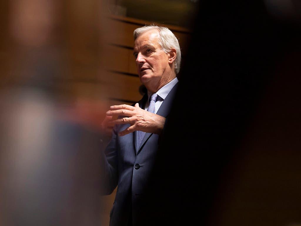 Berät mit Vertretern der britischen Regierung über ein Brexit-Abkommen: EU-Chefverhandler Michel Barnier. (Bild: KEYSTONE/AP/VIRGINIA MAYO)