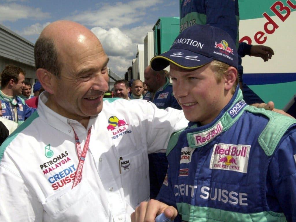 Patron Peter Sauber hatte Räikkönen «aus dem Bauch heraus» verpflichtet, obwohl dieser zuvor erst 14 Rennen in der Renault-Serie bestritten hatte und nur dank einer Spezialbewilligung die Superlizenz erhielt (Bild: KEYSTONE/JIMMY FROIDEVAUX)