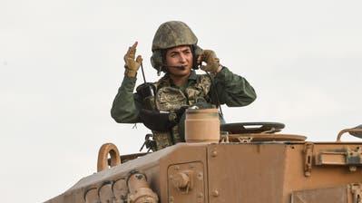 Ein türkischer Soldat an der syrischen Grenzen. (Bild: Burak Kara/Getty, Ceylanpinar, 18. Oktober 2019)