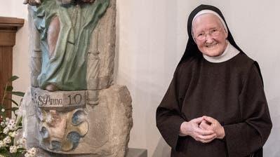 Schwester Maria Nicola Schmucki im Frauenkloster St. Anna auf dem Gerlisberg in Luzern. (Bild: Pius Amrein, 15. Oktober 2019)
