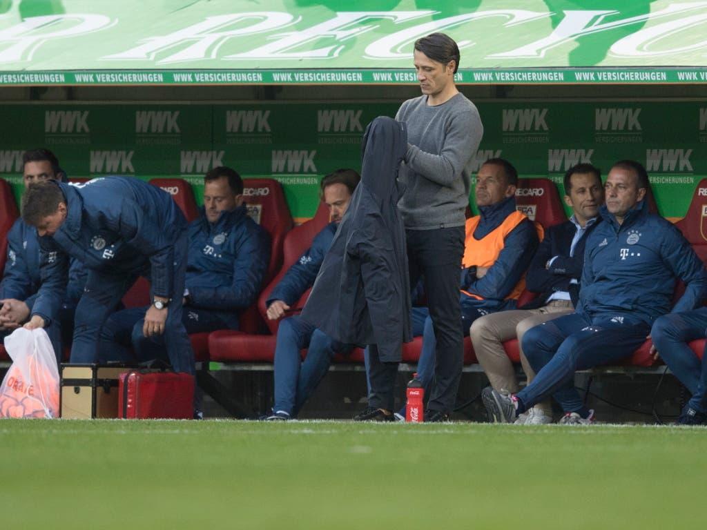 Der Druck steigt dafür für Bayern-Coach Niko Kovac nach dem 2:2 bei Augsburg (Bild: KEYSTONE/EPA/ANDREAS SCHAAD)