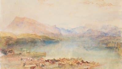 The Rigi, Lake Lucerne, Sunset: Das Aquarell von J.M.W. Turner (1842/43) ist zurzeit im Kunstmuseum Luzern zu sehen. (Bild: Lowell Libson&Jonny Yarker Ltd)