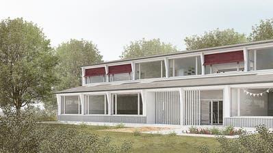 Das Projekt «Baloo» sieht einen Neubau zwischen der Münchwiler Schul- und der Urbanstrasse vor. (Bild: Allemann Bauer Eigenmann Architekten AG)