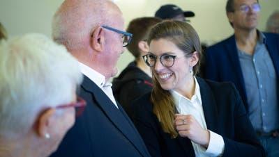 Die Grüne Franziska Ryser freut sich über ihre Wahl in den Nationalrat. (Bild: Ralph Ribi)
