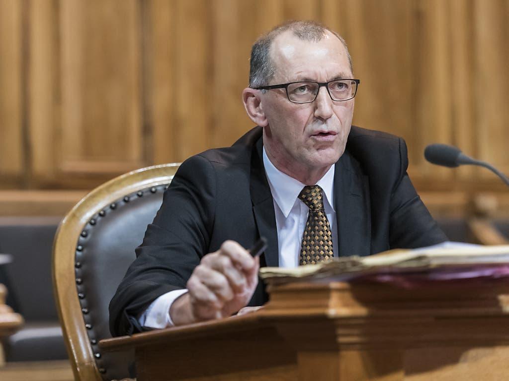 Werner Hösli (SVP/GL) muss seinen Platz im Ständerat dem Grünen Mathias Zopfi überlassen. (Bild: KEYSTONE/ALESSANDRO DELLA VALLE)