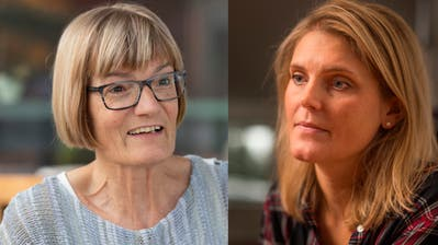 Irene Räss (SVP) und Seline Heim(CVP) treffen sich nach dem ernüchternden Ergebnis auf dem Bauernhof. (Bild: PD)
