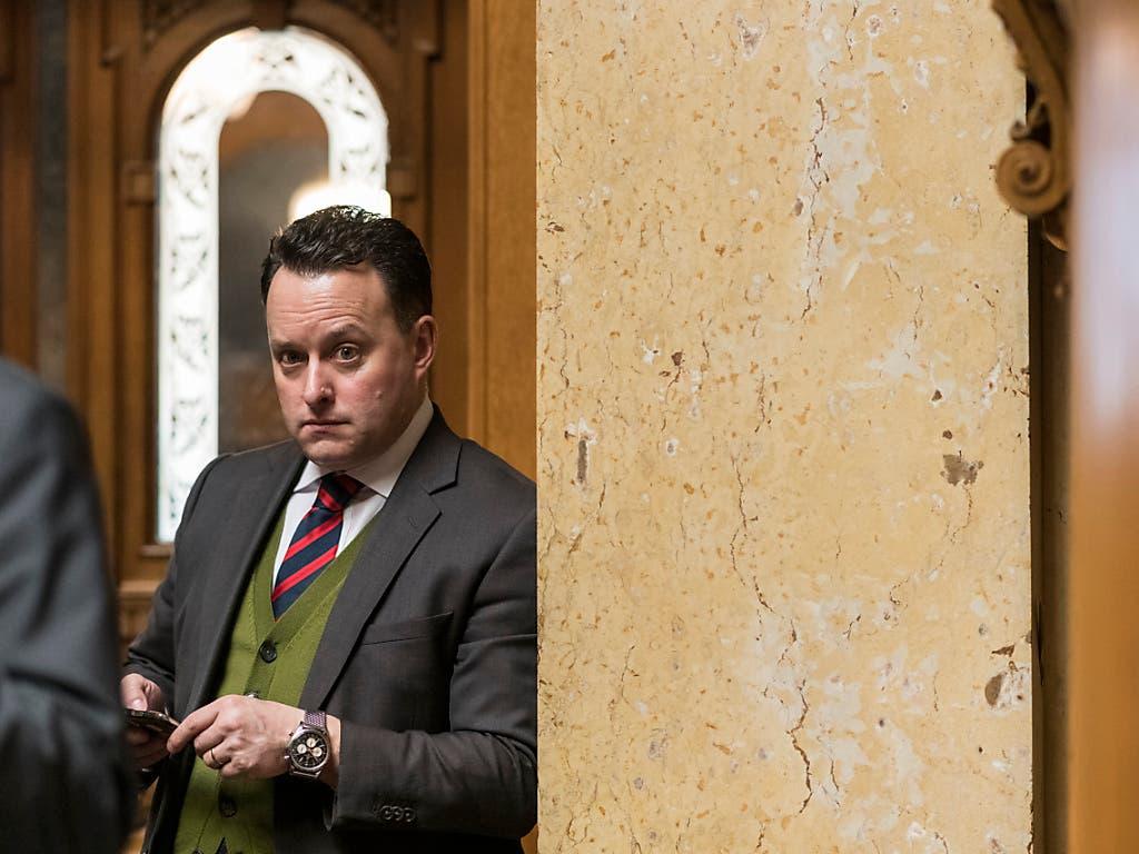 SVP-Nationalrat Sebastian Frehner muss in Basel-Stadt um seine Wiederwahl zittern. Erwartet worden war, dass der Sitz der Linken Sibel Arslan wackelt. (Bild: KEYSTONE/ALESSANDRO DELLA VALLE)