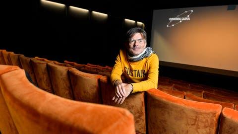 Christof Stillhard, Leiter und Mitgründer des Cinema Luna, hat schon als Schüler Kinovorstellungen organisiert. (Bild: Donato Caspari)