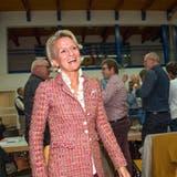 Andrea Gmür freut sich an der CVP Delegiertenversammlung in Ermensee über ihre höchst wahrscheinliche stille Wahl in den Ständerat. (Bild: Dominik Wunderli, 22. Oktober 2019)