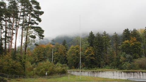 Hier soll die neue 25 Meter hoheMobilfunkanlage der Swisscom zu stehen kommen. (Bild: Markus Zwyssig, Bürglen, 22. Oktober 2019)