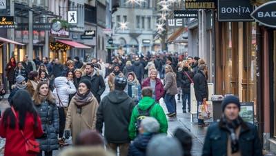 """Während der Adventszeit ist die Innenstadt voll. Mit dem """"City Messenger"""" soll sie auch ausserhalb dieser Zeit belebter werden. (Bild: Michel Canonica)"""