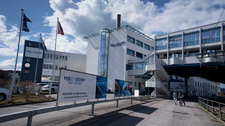 Der Hauptsitz von Hochdorf. (Bild: Corinne Glanzmann, Hochdorf, 5. April 2018)