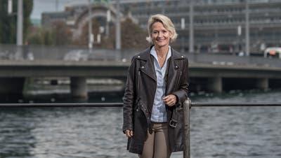 Die 55-jährige CVP-Politikerin Andrea Gmür, hier auf der Seebrücke in Luzern, ist neue Ständerätin des Kantons Luzern. (Bild: Pius Amrein, 23. Oktober 2019)