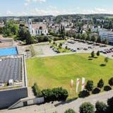 Auf dem Areal zwischen Bärenplatz und Festwiese respektive Dreispitzhalle ist das neue Stadthaus von Kreuzlingen geplant. (Bild: Reto Martin
