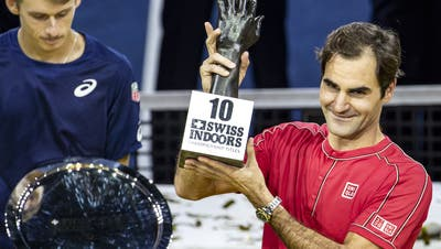 Das Unerwartete wird tatsächlich wahr: Roger Federer gewinnt zum zehnten Mal in Basel
