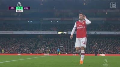 Granit Xhaka (links) wird von den Arsenal-Fans nicht geliebt. (Bild: ScreenshotDAZN)