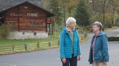 Schwester Lea Summermatter (links) und Schwester Ruth Walker. (Bild: Marion Wannemacher, Flüeli-Ranft, 25. Oktober 2019)