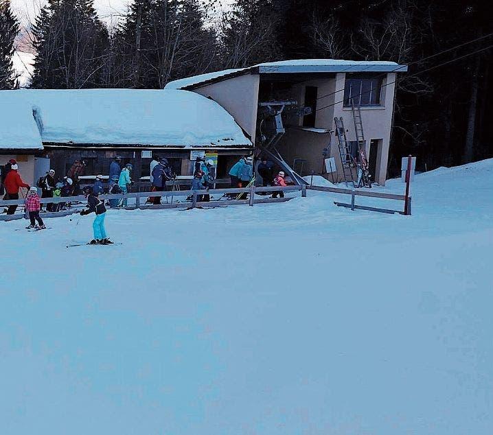 Der letzte Winter war ein besonders schneereicher. Der Skilift von Oberegg auf den St.Anton war 37 Tage geöffnet. (Bild: pd)