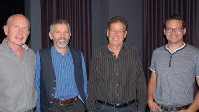 Neu im Vorstand (von links): Hermann Brenner, Jakob Hug, Josef Grob und Franz Eugster. (Bild: Kurt Peter)