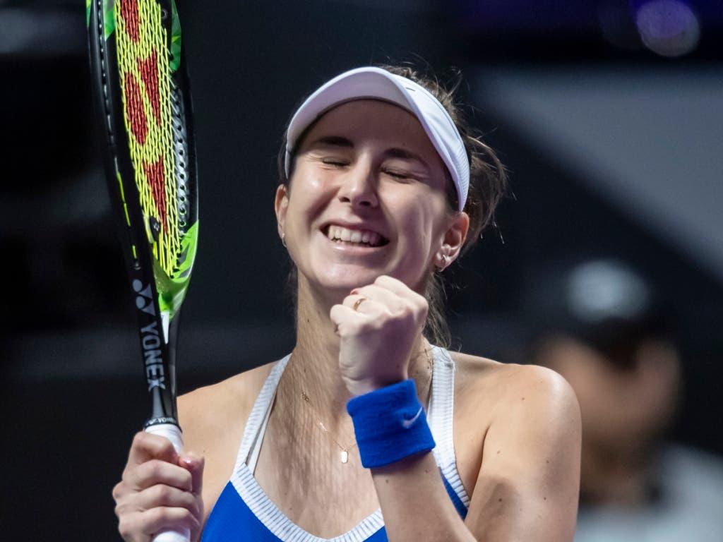 Belinda Bencic eröffnen sich dank dem ersten Sieg gute Perspektiven (Bild: KEYSTONE/EPA/ALEX PLAVEVSKI)