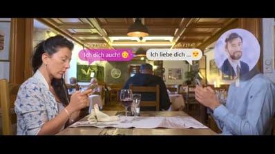 Marie und ihr virtueller Traummann: Szene aus dem Video der Schweizer Polizei zu Romance Scam. (Bild: zvg)