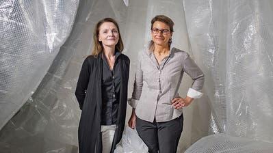 Claudia Reeb und Gabrielle Obrist in der Kunsthalle Wil. (Bilder: Benjamin Manser)